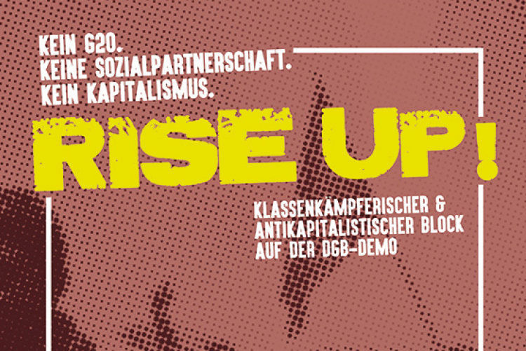 Antikapitalistischer Block auf der 1. Mai-Demo