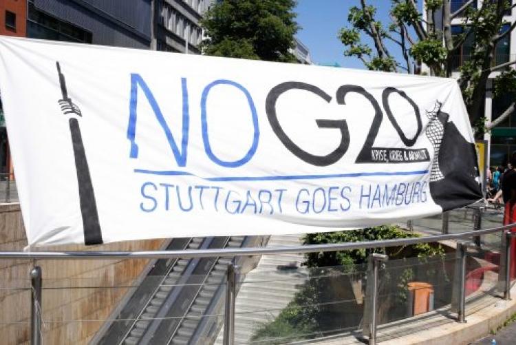 Von Stuttgart nach Hamburg – Protest gegen den G20-Gipfel