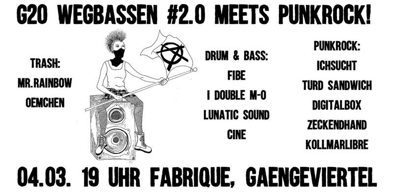 G20 Wegbassen #2.0 meets Punkrock!