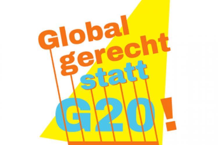 Global gerecht statt G20, Protest gegen G20-Gipfel 2017 in Hamburg
