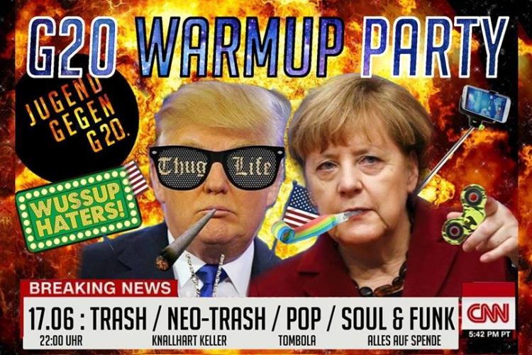 Jugend gegen G20 - Warmup Party am 17.6. im Knallhart