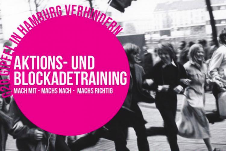 Aktions- und Blockadetraining gegen G20 in Hamburg