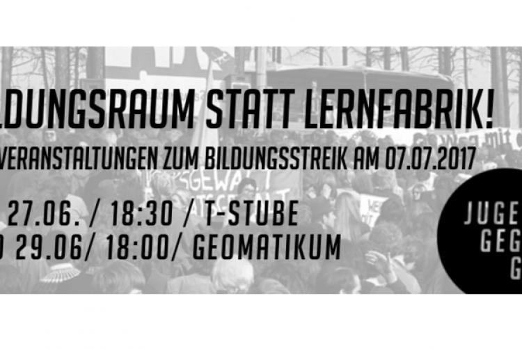 Infoveranstaltung zum Bildungsstreik – Jugend gegen G20