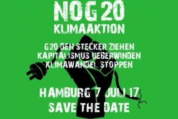 Klima-Aktion beim G20-Gipfel 2017 in Hamburg