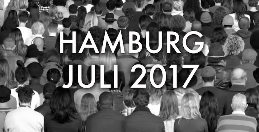 """Performance """"1000 GESTALTEN"""" zum G20-Gipfel in Hamburg"""