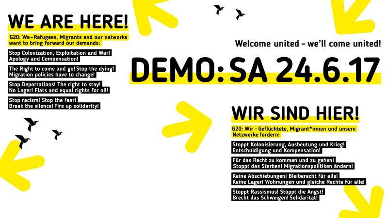 Refugees und Migrant*innen fordern: Stoppt Kolonisierung, Ausbeutung und Krieg!